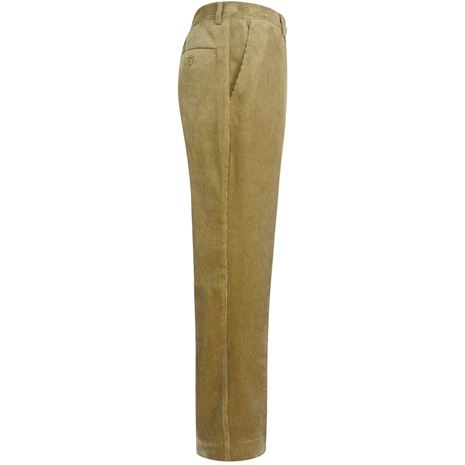 Hoggs of Fife Mid-Weight Cord Trousers - Beige - Side