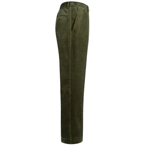 Hoggs of Fife Mid-Weight Cord Trousers - Dark Olive