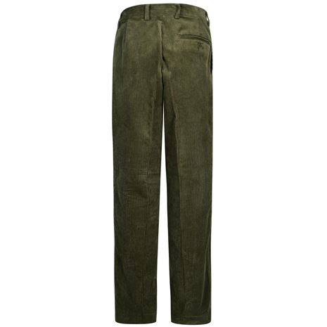 Hoggs of Fife Mid-Weight Cord Trousers - Dark Olive - rear