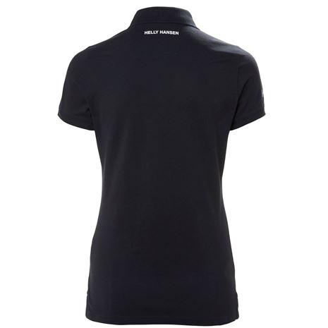 Helly Hansen Womens Crew Pique 2 Polo Shirt - Navy - Rear