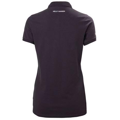 Helly Hansen Womens Crew Pique 2 Polo Shirt - Nightshade - Rear