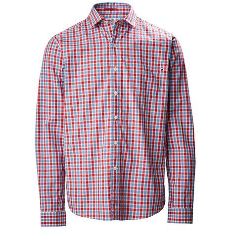 Musto Riviera Long Sleeve Shirt - Harrison Red Check