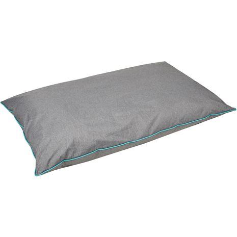 WeatherBeeta Waterproof Dog Pillow - Grey /Turquoise