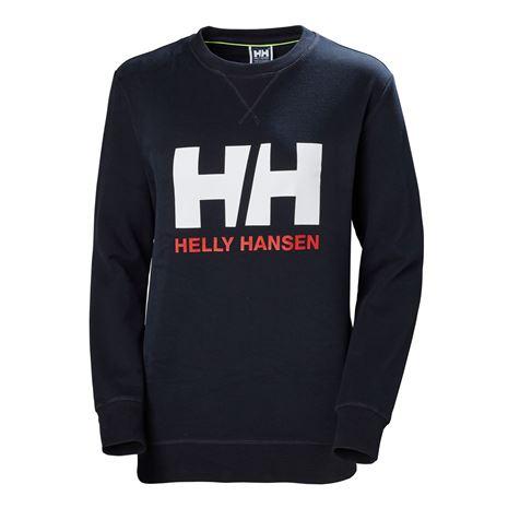 Helly Hansen Womens HH Logo Crew Sweat - Navy