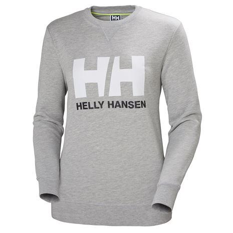 Helly Hansen Womens HH Logo Crew Sweat - Grey Melange