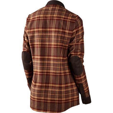 Harkila Pajala Lady Shirt - Rear Burgundy Check