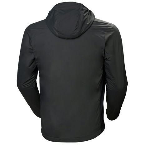 Helly Hansen Odin Stretch Hooded Light Insulator Jacket - Charcoal - Rear