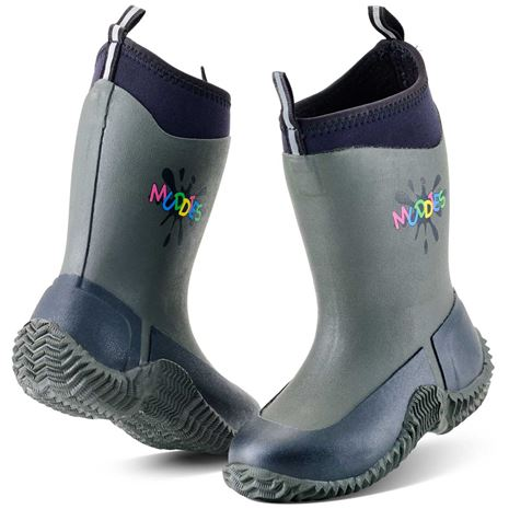 Grubs Muddies Icicle 5.0 Kids Wellington Boots - Charcoal