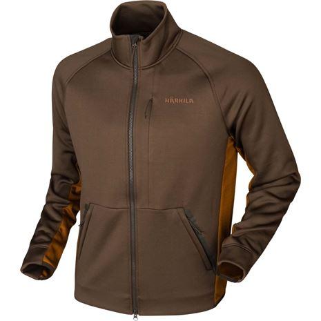 Harkila Borr Hybrid Fleece Jacket - Slate Brown / Rustique Clay