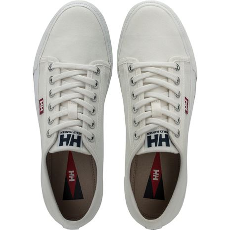 Helly Hansen W Fjord Canvas Shoe V2 - Off White / Beet Red / Navy