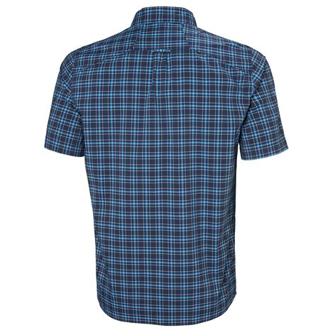 Helly Hansen Fjord QD SS Shirt - Navy Check - Rear