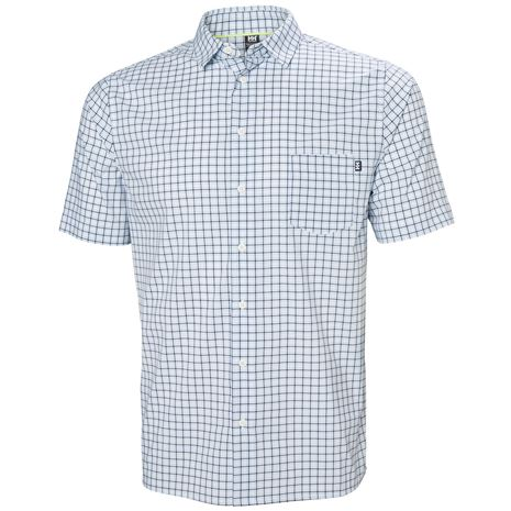 Helly Hansen Fjord QD SS Shirt - White Check