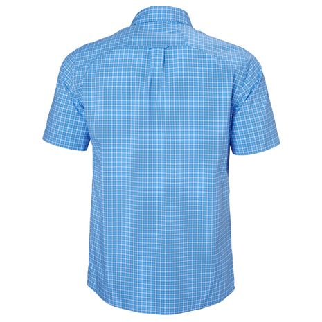 Helly Hansen Fjord QD SS Shirt - Cornflower Check - Rear