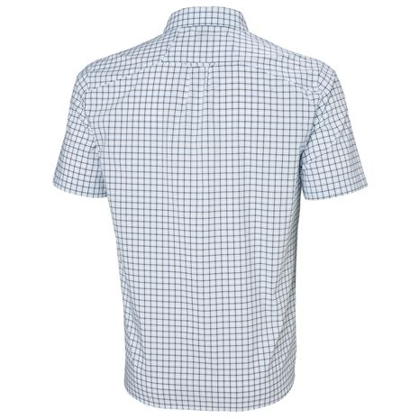 Helly Hansen Fjord QD SS Shirt - White Check - Rear