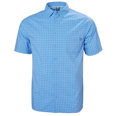 Helly Hansen Fjord QD SS Shirt - Cornflower Check