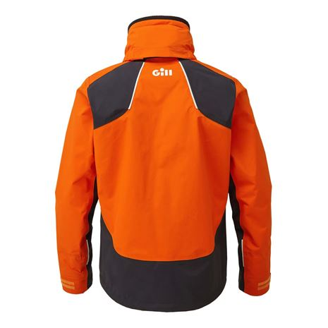 Gill Race Fusion Jacket - Tango/Graphite - Rear
