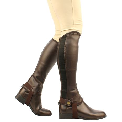 Saxon Equileather Half Chaps - Brown
