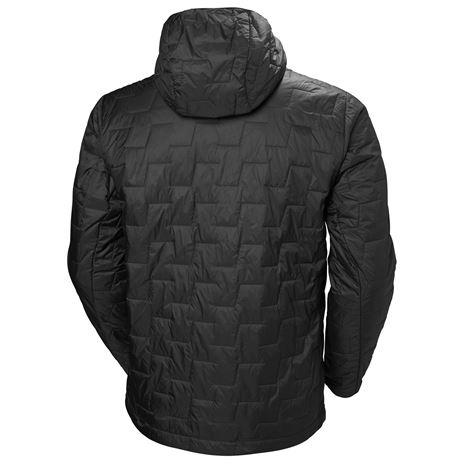 Helly Hansen Lifaloft Hooded Insulator Jacket - Black Matte - Rear