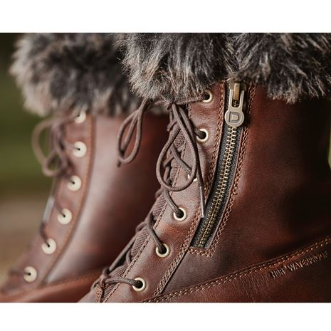 Dublin Bourne Boots - Red Brown - Zip Detail
