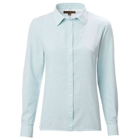 Musto Women's Country Linen Shirt - Pale Blue
