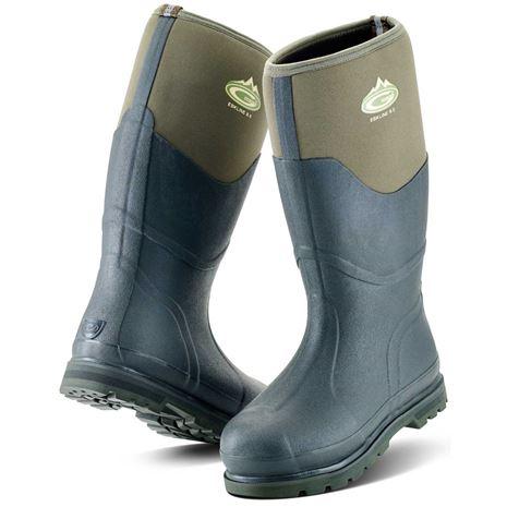 Grubs Eskline 8.5 Wellington Boots - Moss Green