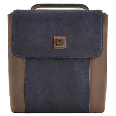Dubarry Dingle Leather Handbag - Navy Brown