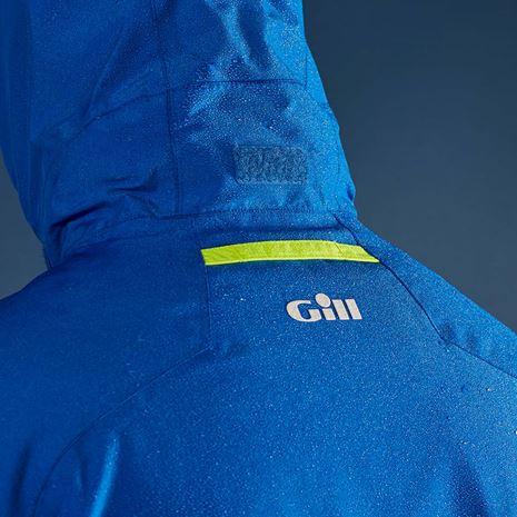 Gill Men's Navigator Jacket - Blue - Hood detail