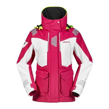 Musto Women's BR2 Offshore Jacket - Cerise/White
