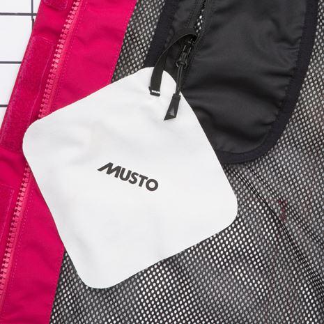 Musto Women's BR2 Offshore Jacket - Cerise/White - Lining