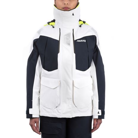 Musto Women's BR2 Offshore Jacket - White/True Navy