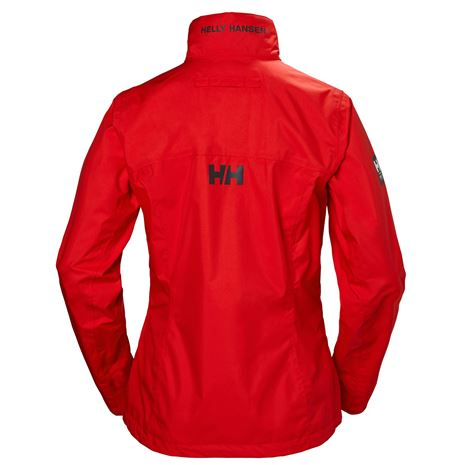 Helly Hansen Womens Crew Jacket - Alert Red - Rear