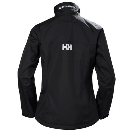 Helly Hansen Womens Crew Jacket - Black - Rear