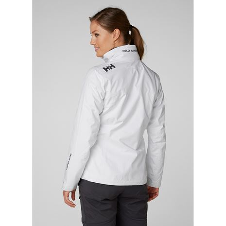 Helly Hansen Womens Crew Jacket - White - Rear