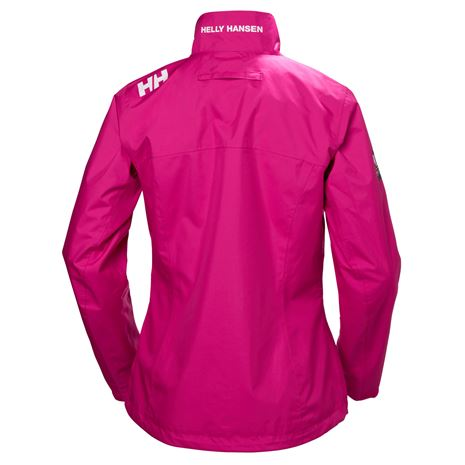 Helly Hansen Womens Crew Jacket - Dragon Fruit - Rear