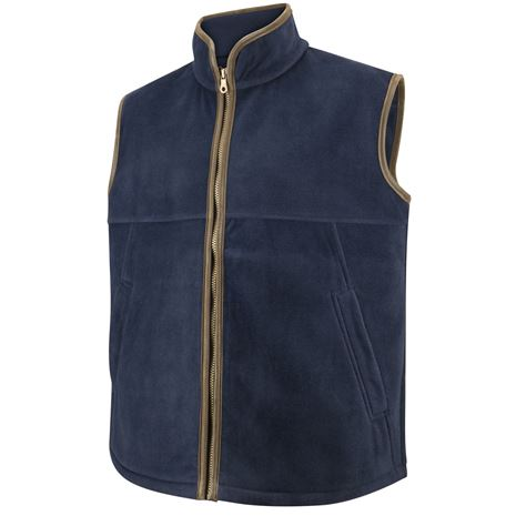 Hoggs of Fife Stenton Technical Fleece Gilet - Midnight Navy