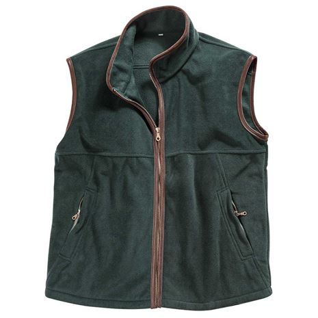 Hoggs of Fife Stenton Technical Fleece Gilet - Pine Green