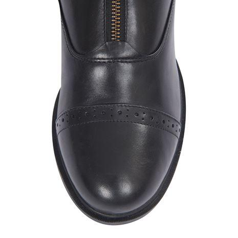 Dublin Evolution Zip Front Paddock Boots - Black - Brogue Toe Detail