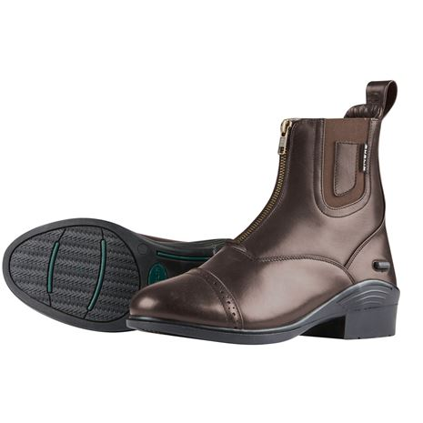 Dublin Evolution Zip Front Paddock Boots - Brown