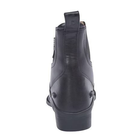 Dublin Evolution Zip Front Paddock Boots - Black - Rear View