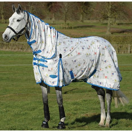 WeatherBeeta Comfitec Essential Mesh II Summer Sheet Horse Rug - Llama Print