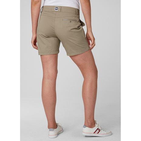 Helly Hansen Womens Crew Shorts - Aluminium - Rear