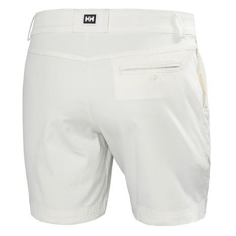 Helly Hansen Womens Crew Shorts - White - Rear