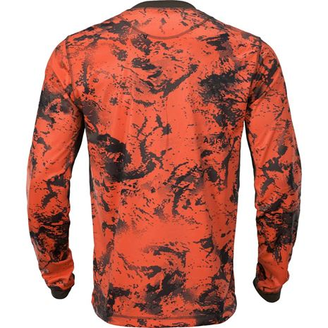 Harkila Wild Boar L/S T-shirt - AXIS MSP Orange / Shadow Brown