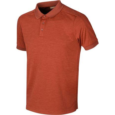 Harkila Tech Polo Shirt - Dark Burnt Orange