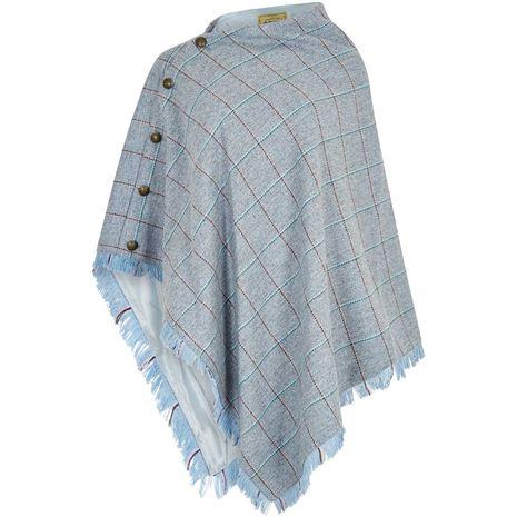 Dubarry Hazelwood Tweed Poncho - Blue Heather