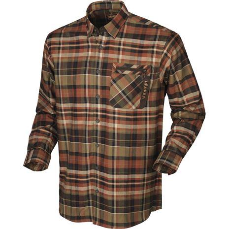Harkila Newton Check Shirt - Dark Burnt Orange