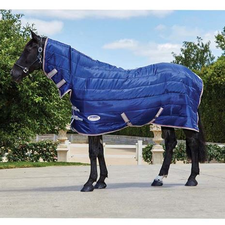 WeatherBeeta Comfitec 210D Channel Quilt Combo Neck Medium Lite Weight Stable Rug - Navy/Silver/Red