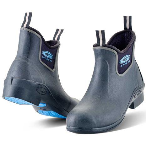 Grubs Outline 5.0 Wellington Boots - Black/Blue