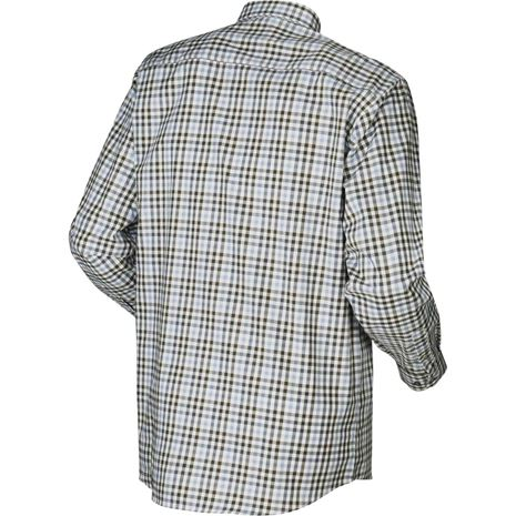 Harkila Milford Cotton Checked Shirt  - Heritage Blue