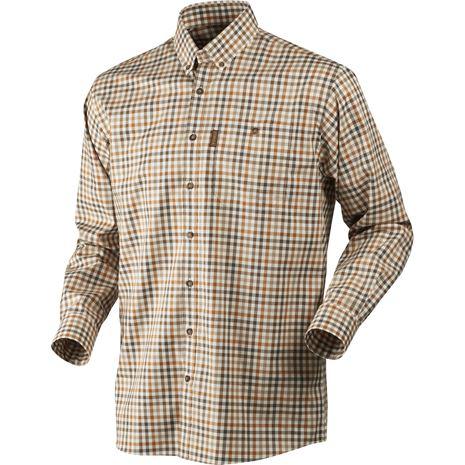 Harkila Milford Cotton Checked Shirt - Spice Check